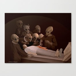 The Lesson of Anatomy. Canvas Print