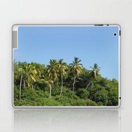 Exotic beach palm, trees and sky summer sun Laptop & iPad Skin