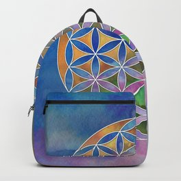 The Flower of Life in the Sky Backpack