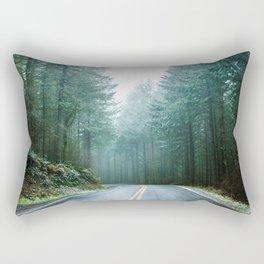 Forest Road Trip Rectangular Pillow