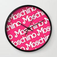 moschino Wall Clocks featuring Moschino Everything by RickyRicardo787