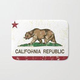 California Republic Flag Distressed Bath Mat