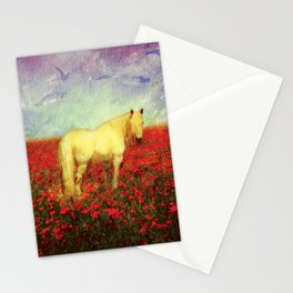 Horse in Flowers Stationery Cards