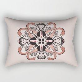Queen of Hearts mandala Rectangular Pillow