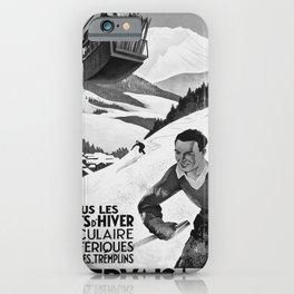 retro retro St Gervais Les Bains poster iPhone Case