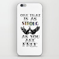 larry stylinson iPhone & iPod Skins featuring One that's strong as you are free (Larry Stylinson) by Arabella
