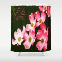 faith Shower Curtains featuring faith by Shea33