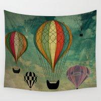 ballon Wall Tapestries featuring 1er vuelo Aerostático en España by DipWeb