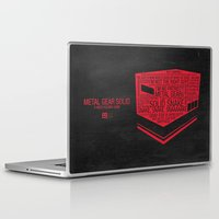 metal gear solid Laptop & iPad Skins featuring Metal Gear Solid Typography by Kody Christian