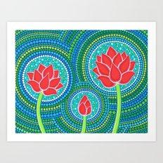 Lotus Family of 3 Art Print