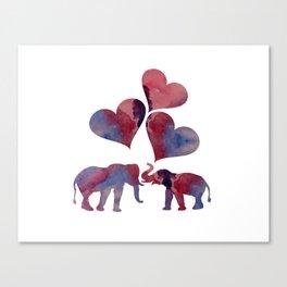 Elephant Art Canvas Print