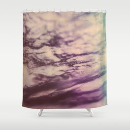 Purple Blue Fluorite from our Earth Shower Curtain
