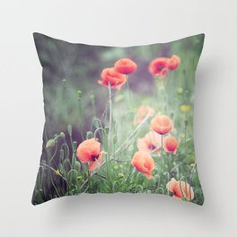 Flow(ers) Throw Pillow