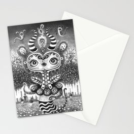 Snail lady Stationery Cards