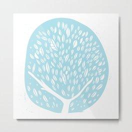 Tree of life - baby blue Metal Print