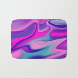 Liquid Bold Vibrant Colorful Abstract Paint in Blue, Pink and Purple Bath Mat