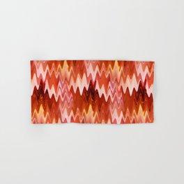 Zigzag Burnt Orange Hand & Bath Towel