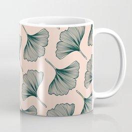 Diagonal Gingko Leaves Coffee Mug
