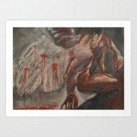 Canvas painting, acrylic 'Unforgiven' Art Print