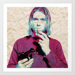 Kurt i Art Print