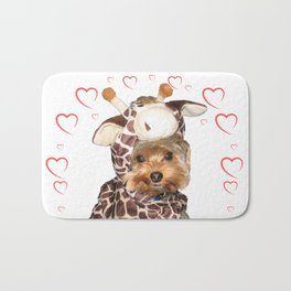 Yorkie Giraffe   Yorkies   Dogs   nb Bath Mat