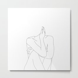 Nude life drawing figure - Celina Metal Print