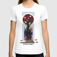 winter soldier T-shirts featuring Art Nouveau Winter Soldier by Totally Bucky