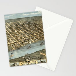 Map of Little Rock 1871 Stationery Cards