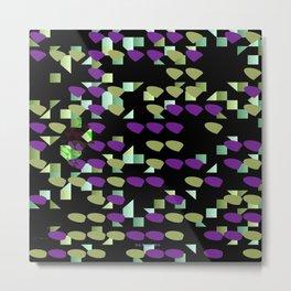 Magenta Lime Floaters Metal Print