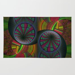 Tunneling Abstract Fractal Rug