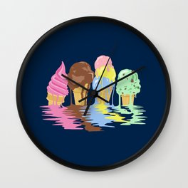 Ice Cream Dream Wall Clock