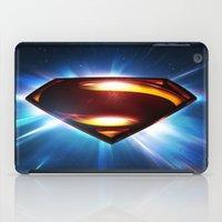 man of steel iPad Cases featuring Man of Steel Logo by taylorwayne93