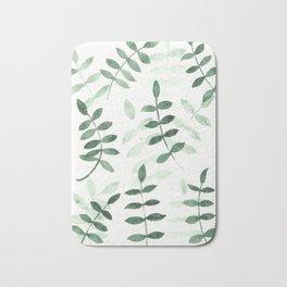 Green leaf pattern Bath Mat