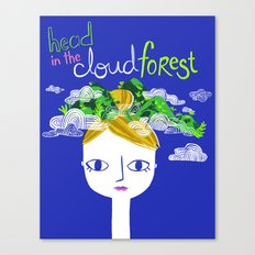 Head in the Cloud Forest Canvas Print