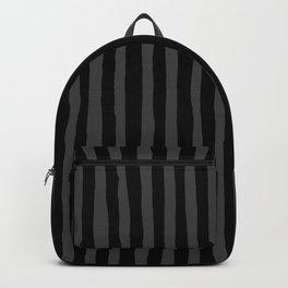 Black and Grey Stripe Backpack