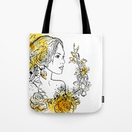 nature flower woman Tote Bag