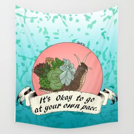 It's okay to go at your own pace. Wall Tapestry