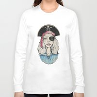 pirate Long Sleeve T-shirts featuring Pirate by Bruno Gonçales
