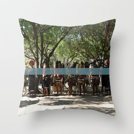 Line of People Throw Pillow