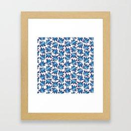 Blue leafs Framed Art Print
