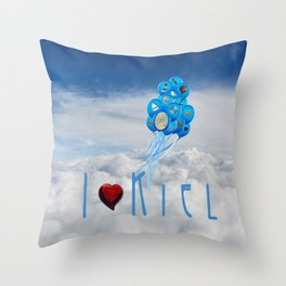 I love Kiel Throw Pillow