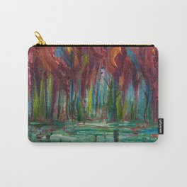Red Trees Thick Impasto Abstract  Painting Carry-All Pouch