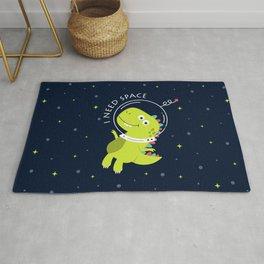 I Need Space (Happy Astronaut Dinosaur) Rug
