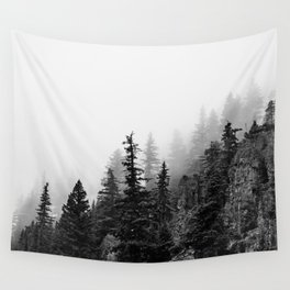 Foggy Trees Wall Tapestry