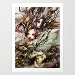 Drowned Memories Art Print