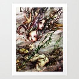 Drowned Memories Art Print