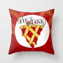 Pie Is Love Throw Pillow