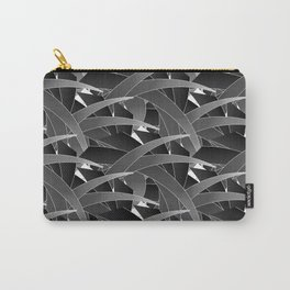 Time to Dream- Black Scatter Bamboo Leaf Carry-All Pouch