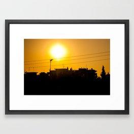Hot days Framed Art Print