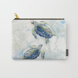 Swimming Together 2 - Sea Turtle  Carry-All Pouch